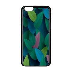 Leaf Rainbow Apple iPhone 6/6S Black Enamel Case
