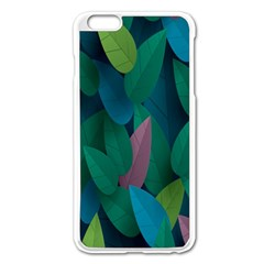 Leaf Rainbow Apple iPhone 6 Plus/6S Plus Enamel White Case