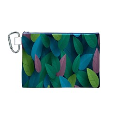 Leaf Rainbow Canvas Cosmetic Bag (M)