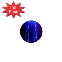 Lightning Electricity Elements Danger Night Lines Patterns Ultra 1  Mini Buttons (100 pack)