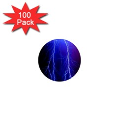 Lightning Electricity Elements Danger Night Lines Patterns Ultra 1  Mini Magnets (100 pack)