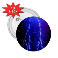 Lightning Electricity Elements Danger Night Lines Patterns Ultra 2.25  Buttons (10 pack)
