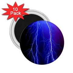 Lightning Electricity Elements Danger Night Lines Patterns Ultra 2.25  Magnets (10 pack)