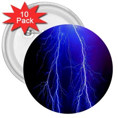 Lightning Electricity Elements Danger Night Lines Patterns Ultra 3  Buttons (10 pack)