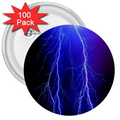Lightning Electricity Elements Danger Night Lines Patterns Ultra 3  Buttons (100 pack)
