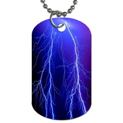 Lightning Electricity Elements Danger Night Lines Patterns Ultra Dog Tag (Two Sides)