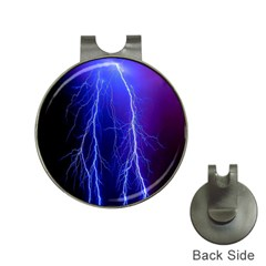 Lightning Electricity Elements Danger Night Lines Patterns Ultra Hat Clips with Golf Markers