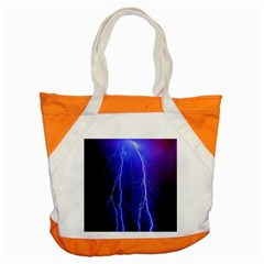Lightning Electricity Elements Danger Night Lines Patterns Ultra Accent Tote Bag