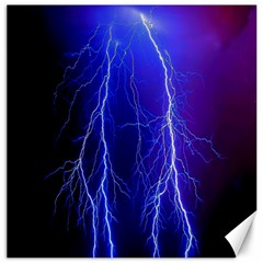 Lightning Electricity Elements Danger Night Lines Patterns Ultra Canvas 16  x 16