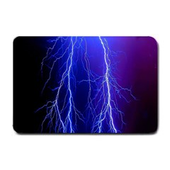 Lightning Electricity Elements Danger Night Lines Patterns Ultra Small Doormat