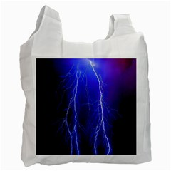 Lightning Electricity Elements Danger Night Lines Patterns Ultra Recycle Bag (One Side)