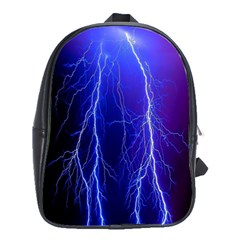 Lightning Electricity Elements Danger Night Lines Patterns Ultra School Bags(Large)