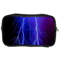 Lightning Electricity Elements Danger Night Lines Patterns Ultra Toiletries Bags