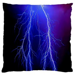 Lightning Electricity Elements Danger Night Lines Patterns Ultra Large Cushion Case (Two Sides)
