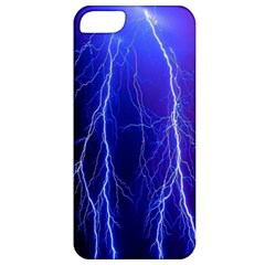 Lightning Electricity Elements Danger Night Lines Patterns Ultra Apple iPhone 5 Classic Hardshell Case