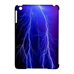 Lightning Electricity Elements Danger Night Lines Patterns Ultra Apple iPad Mini Hardshell Case (Compatible with Smart Cover)