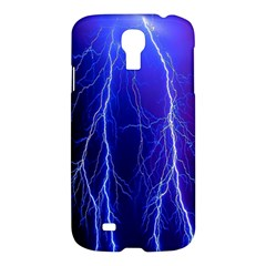 Lightning Electricity Elements Danger Night Lines Patterns Ultra Samsung Galaxy S4 I9500/I9505 Hardshell Case