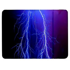 Lightning Electricity Elements Danger Night Lines Patterns Ultra Samsung Galaxy Tab 7  P1000 Flip Case