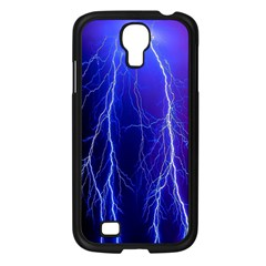 Lightning Electricity Elements Danger Night Lines Patterns Ultra Samsung Galaxy S4 I9500/ I9505 Case (Black)
