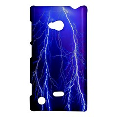 Lightning Electricity Elements Danger Night Lines Patterns Ultra Nokia Lumia 720