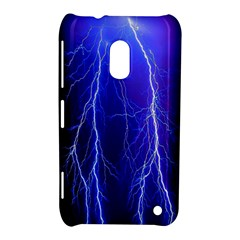 Lightning Electricity Elements Danger Night Lines Patterns Ultra Nokia Lumia 620