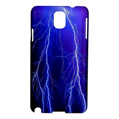 Lightning Electricity Elements Danger Night Lines Patterns Ultra Samsung Galaxy Note 3 N9005 Hardshell Case