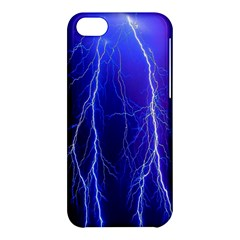 Lightning Electricity Elements Danger Night Lines Patterns Ultra Apple iPhone 5C Hardshell Case