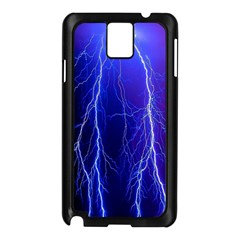 Lightning Electricity Elements Danger Night Lines Patterns Ultra Samsung Galaxy Note 3 N9005 Case (Black)