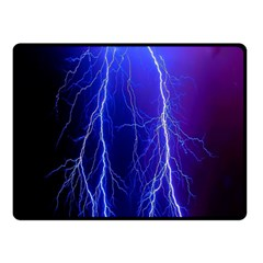 Lightning Electricity Elements Danger Night Lines Patterns Ultra Double Sided Fleece Blanket (Small)