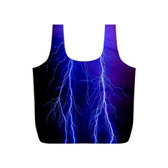 Lightning Electricity Elements Danger Night Lines Patterns Ultra Full Print Recycle Bags (S)
