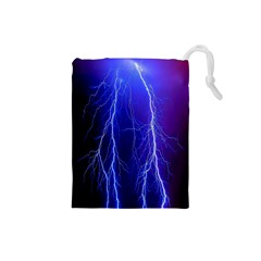 Lightning Electricity Elements Danger Night Lines Patterns Ultra Drawstring Pouches (Small)