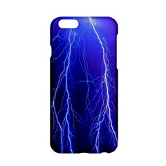 Lightning Electricity Elements Danger Night Lines Patterns Ultra Apple iPhone 6/6S Hardshell Case