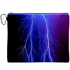 Lightning Electricity Elements Danger Night Lines Patterns Ultra Canvas Cosmetic Bag (XXXL)