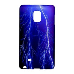 Lightning Electricity Elements Danger Night Lines Patterns Ultra Galaxy Note Edge