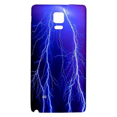 Lightning Electricity Elements Danger Night Lines Patterns Ultra Galaxy Note 4 Back Case