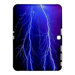Lightning Electricity Elements Danger Night Lines Patterns Ultra Samsung Galaxy Tab 4 (10.1 ) Hardshell Case