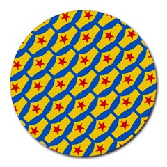 Images Album Heart Frame Star Yellow Blue Red Round Mousepads