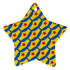 Images Album Heart Frame Star Yellow Blue Red Ornament (Star)