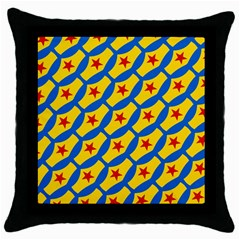 Images Album Heart Frame Star Yellow Blue Red Throw Pillow Case (Black)