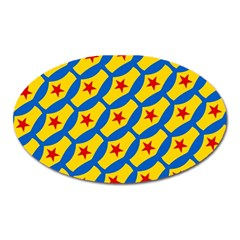 Images Album Heart Frame Star Yellow Blue Red Oval Magnet