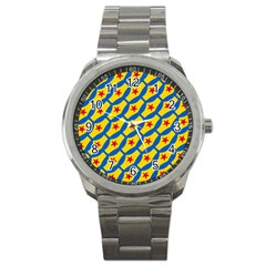 Images Album Heart Frame Star Yellow Blue Red Sport Metal Watch