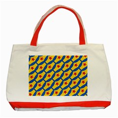 Images Album Heart Frame Star Yellow Blue Red Classic Tote Bag (Red)