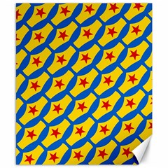 Images Album Heart Frame Star Yellow Blue Red Canvas 8  x 10