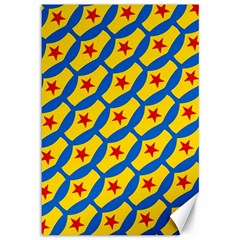 Images Album Heart Frame Star Yellow Blue Red Canvas 12  x 18