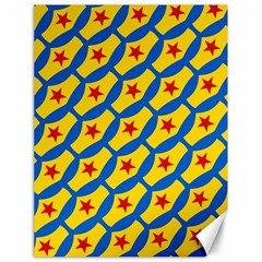 Images Album Heart Frame Star Yellow Blue Red Canvas 18  x 24