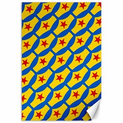 Images Album Heart Frame Star Yellow Blue Red Canvas 24  x 36