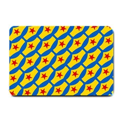 Images Album Heart Frame Star Yellow Blue Red Small Doormat