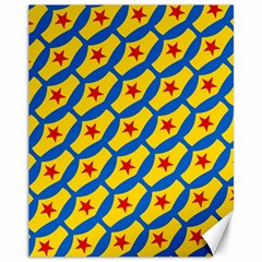 Images Album Heart Frame Star Yellow Blue Red Canvas 11  x 14