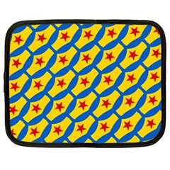 Images Album Heart Frame Star Yellow Blue Red Netbook Case (Large)