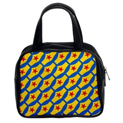 Images Album Heart Frame Star Yellow Blue Red Classic Handbags (2 Sides)